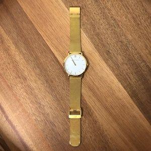 LARSSON & JENNINGS Lugano Gold Mesh Strap Watch